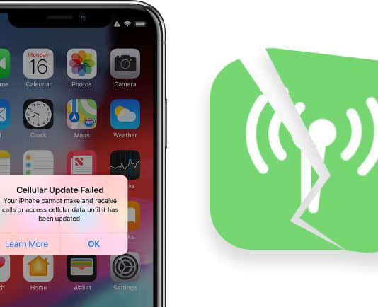 fix cellular update failed