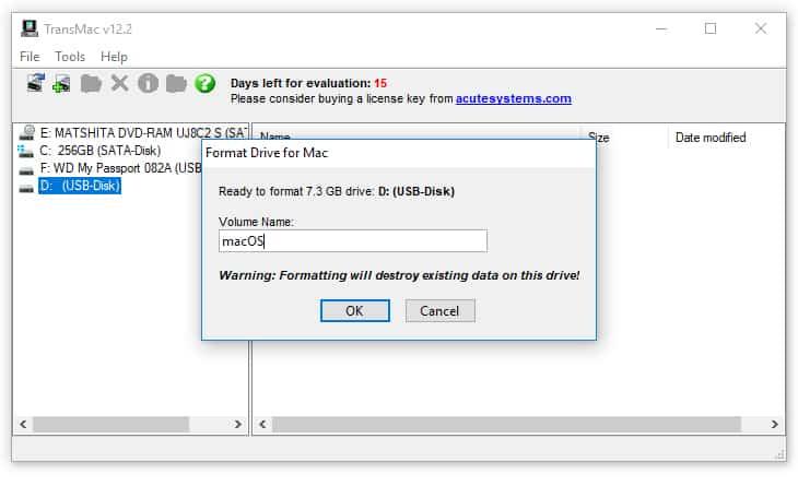 Create bootable macOS on Windows