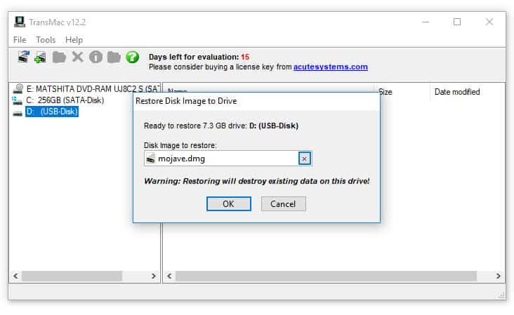 create bootable mac drive on pc