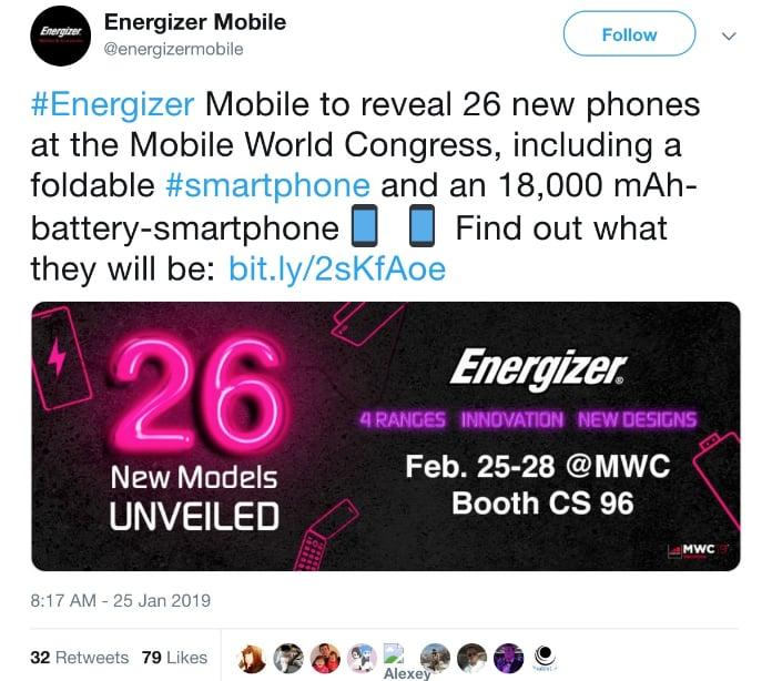 energizer phone 2019