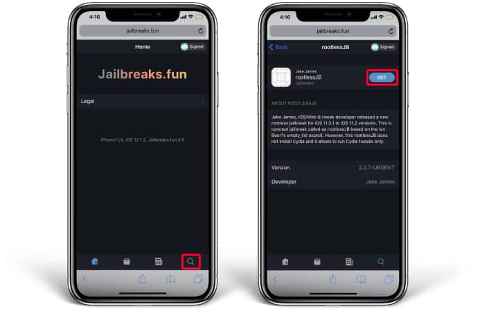 Jailbreak iOS 12 1 2 iPhone and iPad With rootlessJB Tool