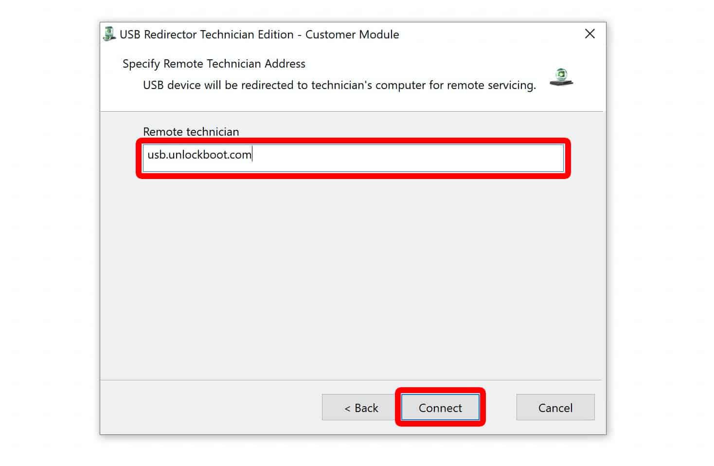 usb redirector remote unlock
