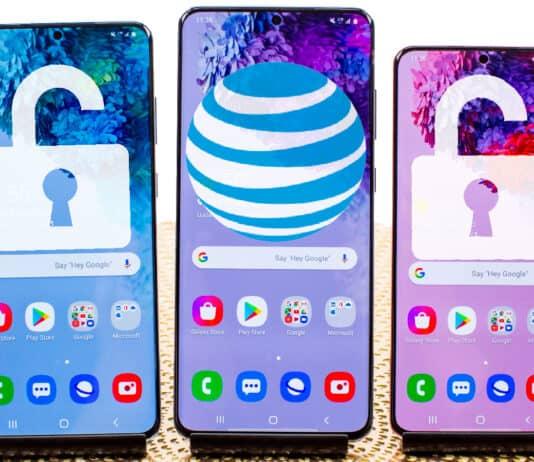 unlock AT&T samsung phone