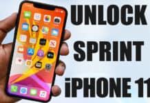unlock sprint iphone 11