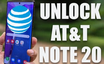 unlock AT&T note 20 ultra 5g