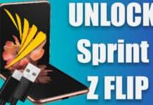 unlock sprint galaxy z flip 5g