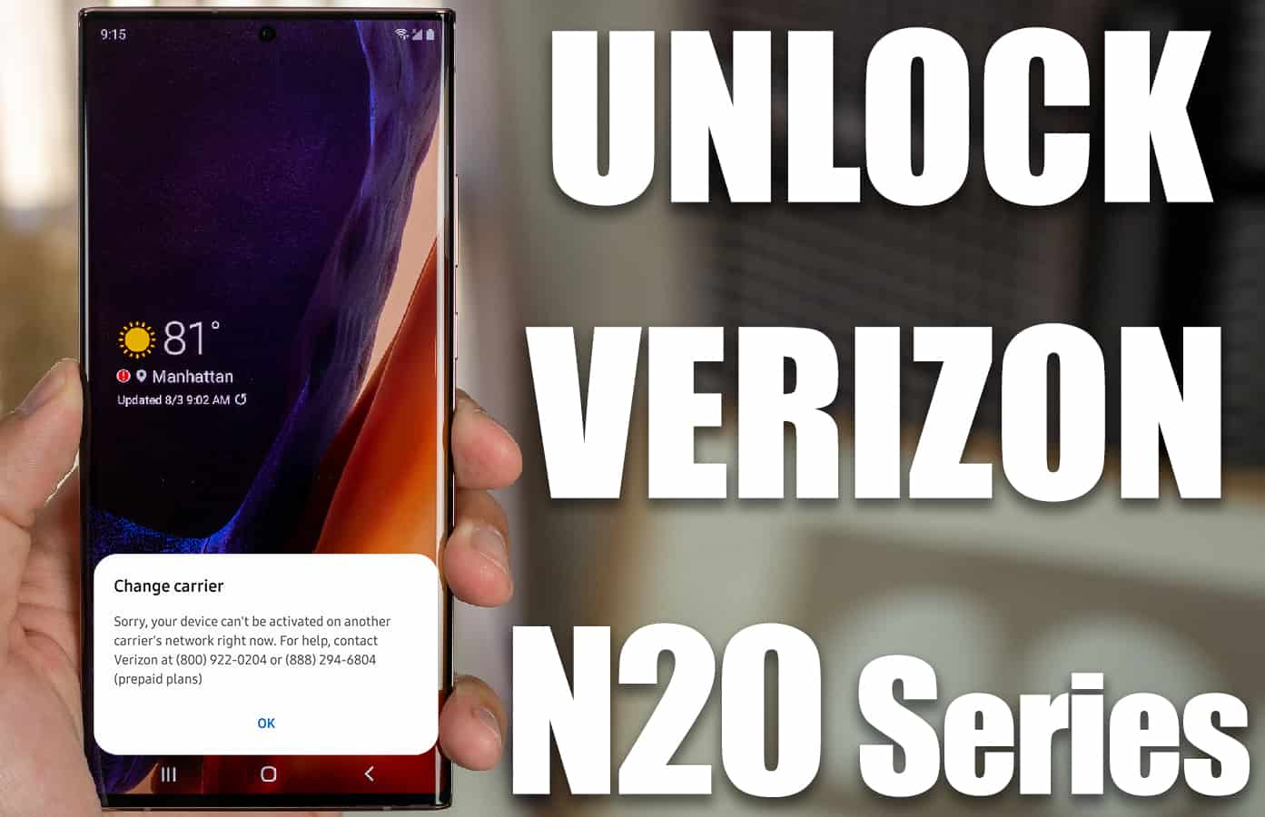 unlock verizon note 20 ultra 5g
