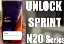 unlock sprint note 20 ultra 5g