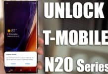unlock t-mobile note 20 ultra 5g