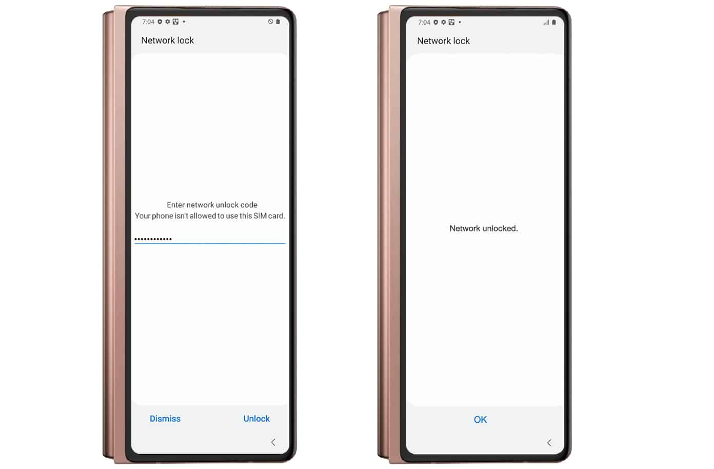 AT&T Z Fold 2 Unlock code