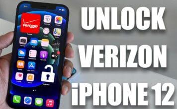 unlock verizon iphone 12