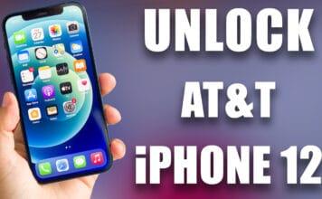 unlock at&t iphone 12