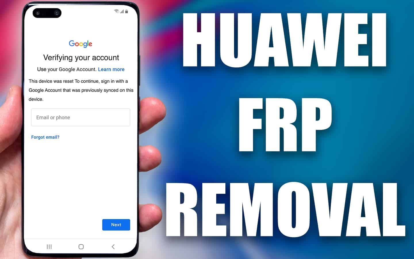 huawei frp removal service