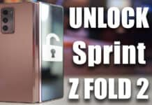 unlock sprint galaxy z fold 2