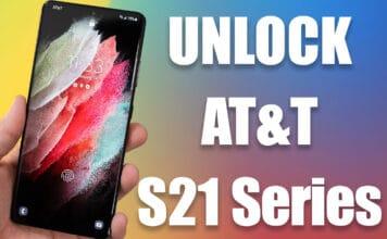 unlock at&t s21 ultra 5g